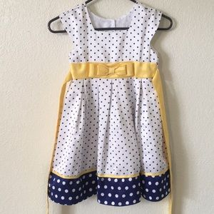 Girls Polka Dot Formal Dress, Size 5